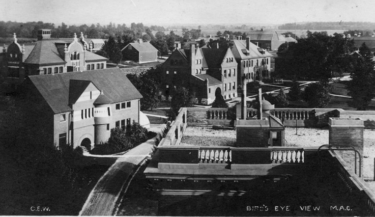 Bird's eye view of the M.A.C. campus