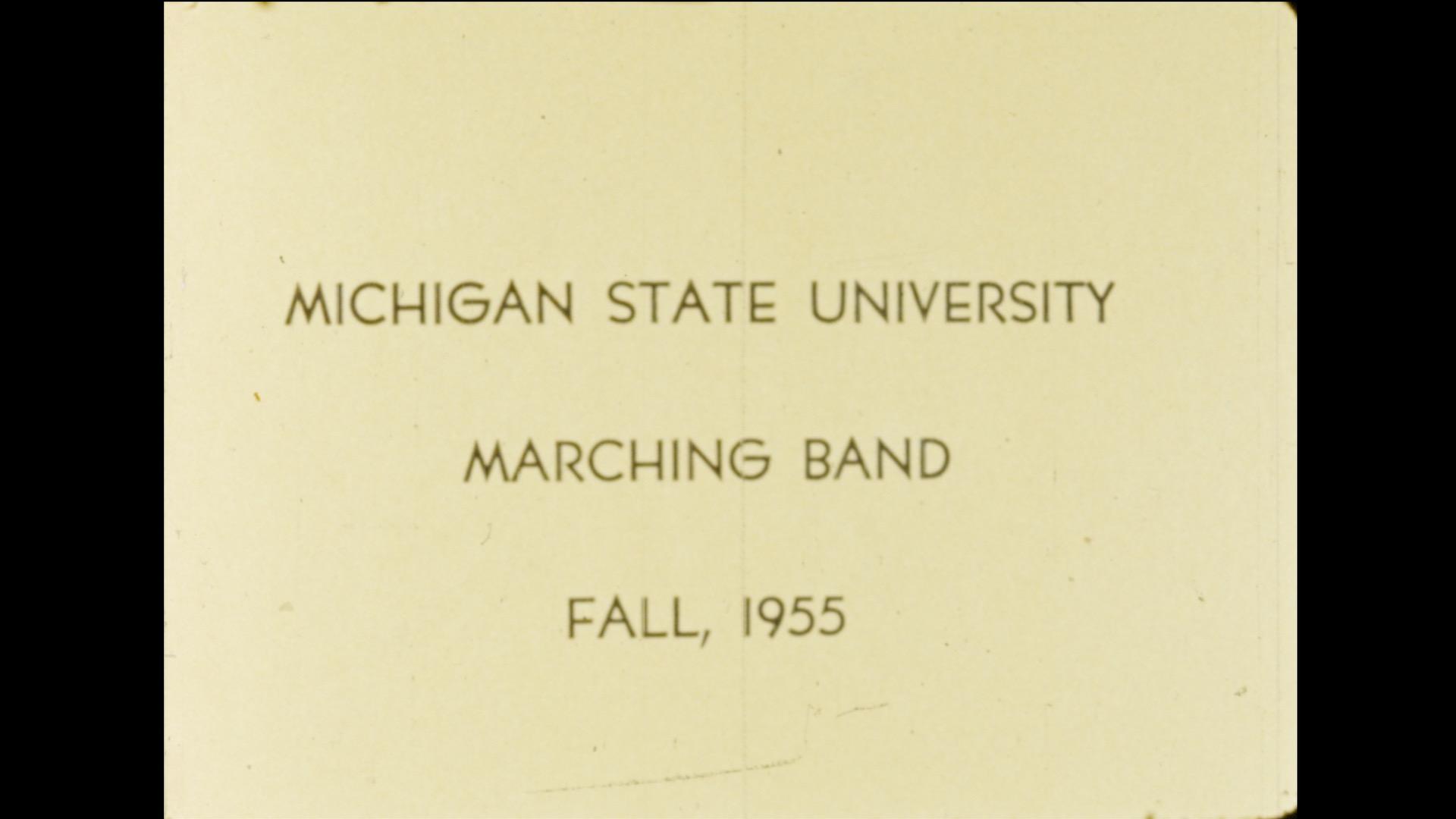 MSU Marching Band, 1955