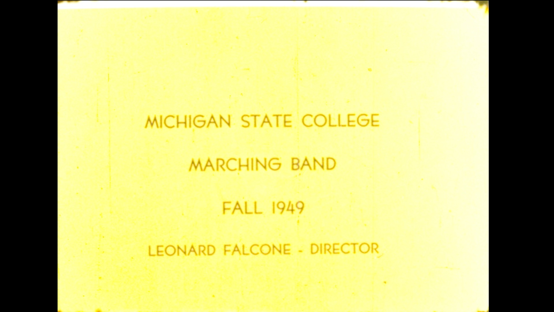 MSC Marching Band, 1949 (part 1 of 2)