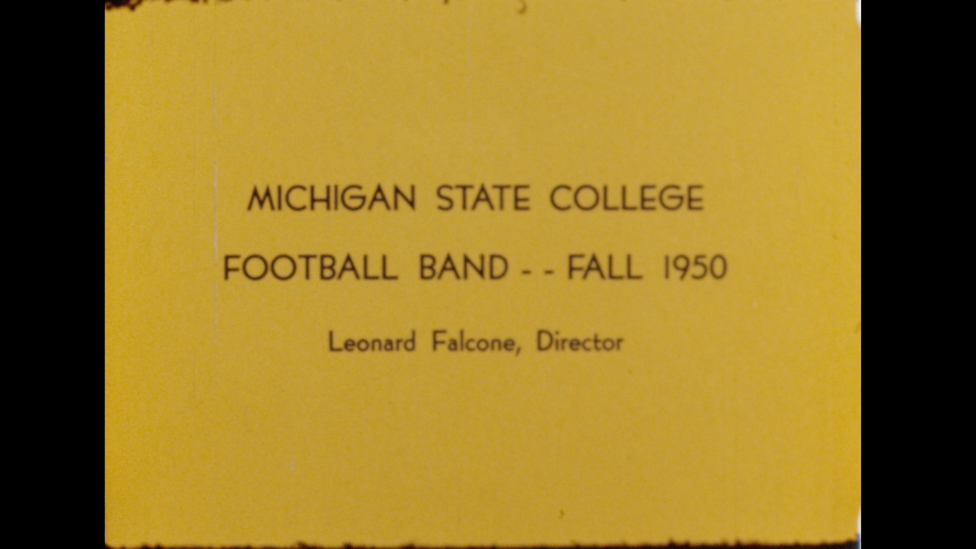 MSC Marching Band, 1950 (part 1 of 2)