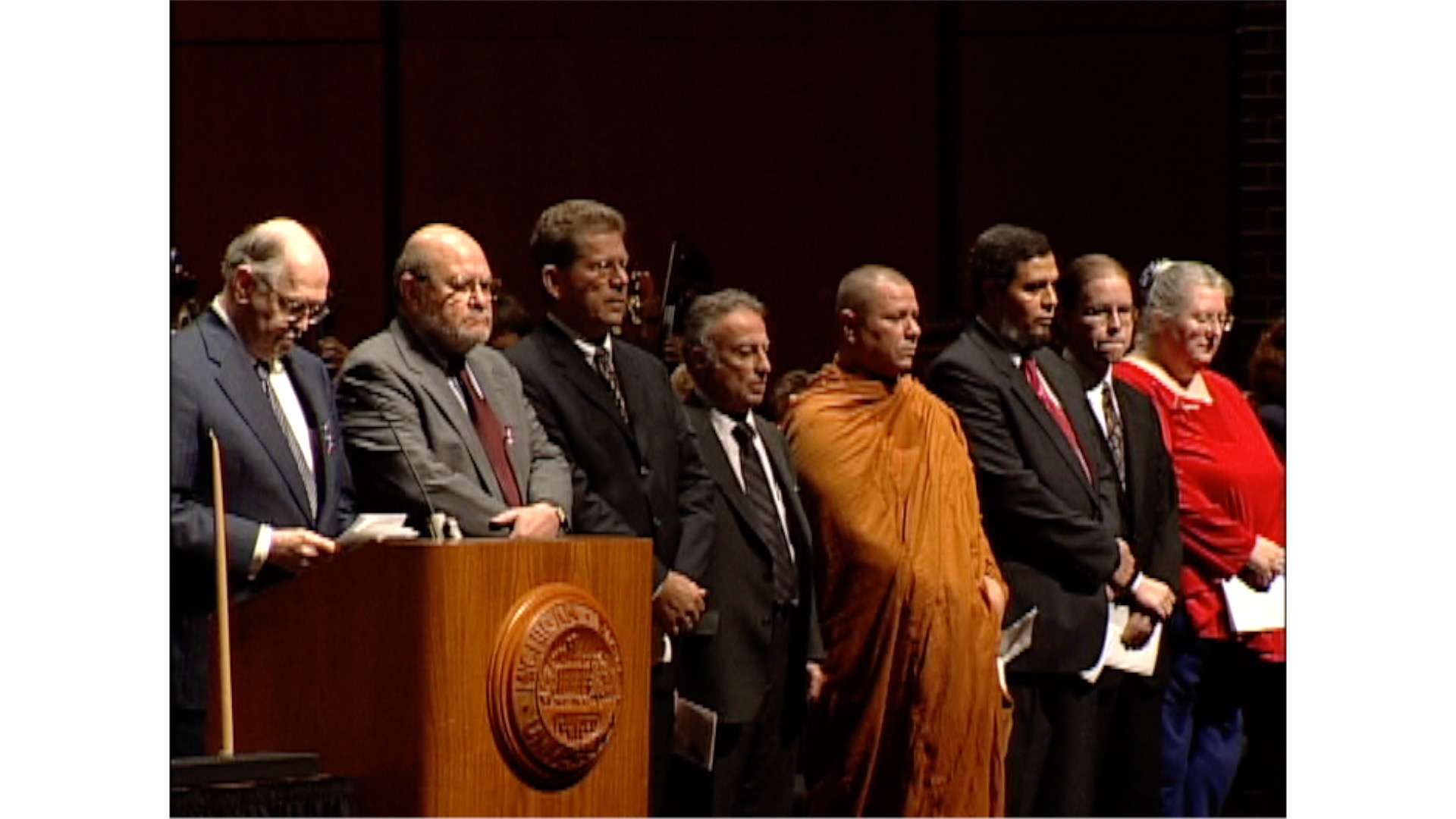 Interfaith Remembrance Service, 2001