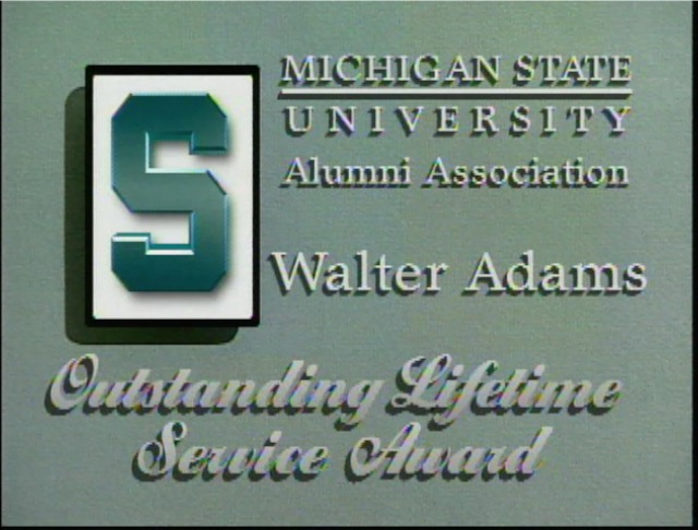 Walter Adams Lifetime Service Award video, 1998