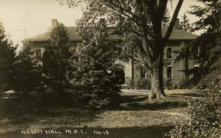 Front view of Abbot Hall