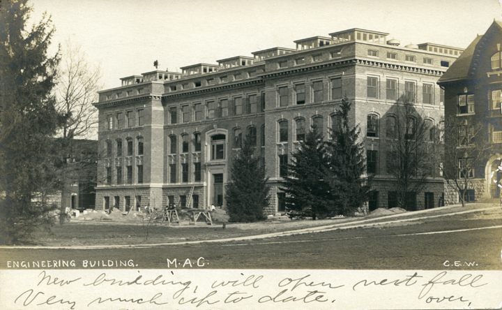 Engineering Building under construction, undated
