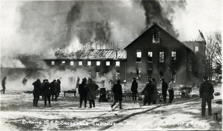 Engineering Shops fire, 1916