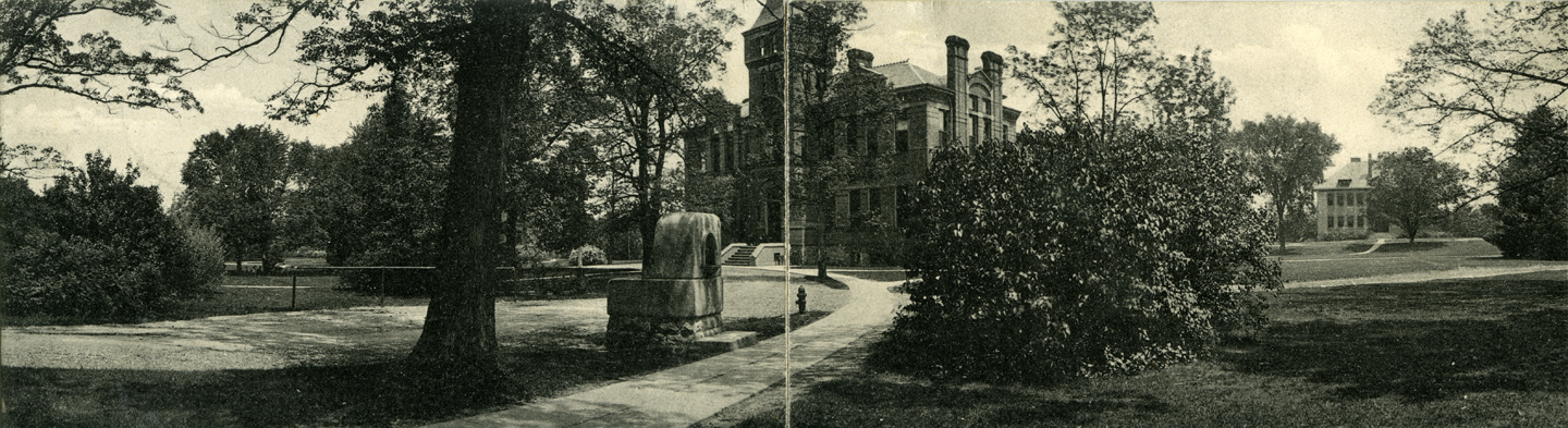 M.A.C. Library (Linton Hall) panorama, ca. 1908