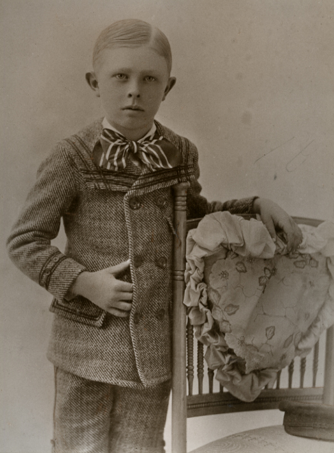 A. Photograph of a young Forest Akers