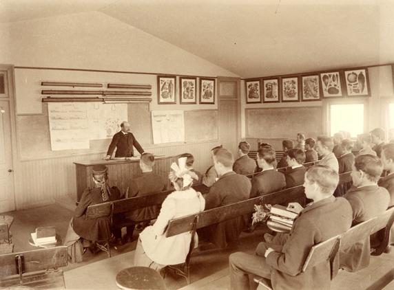 Professor Taft and Students, circa 1892