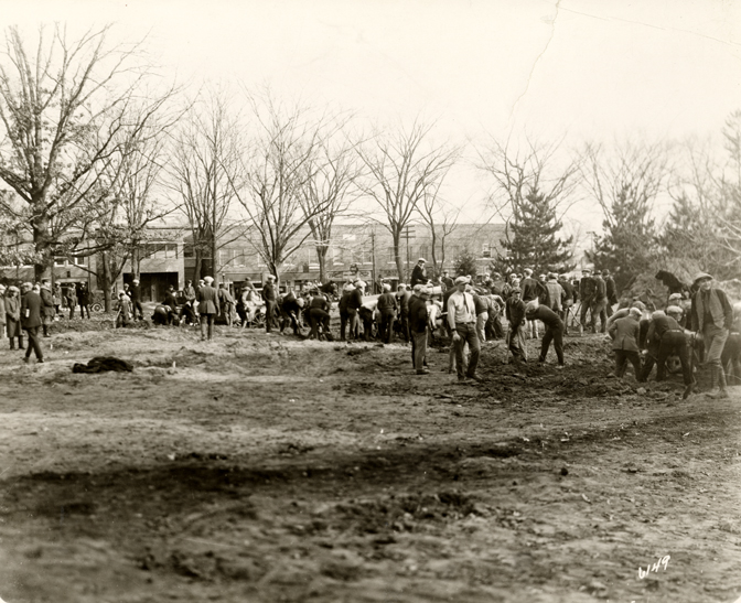 Digging the Union's Foundation, 1923