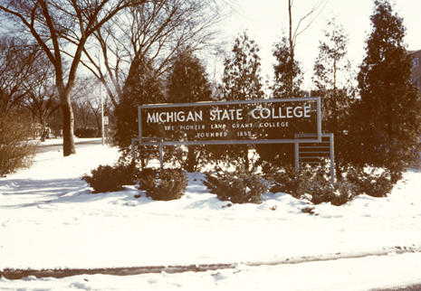 Campus Entrance, circa 1950