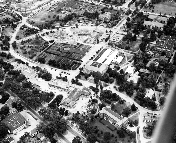 Campus from the Air, 1946