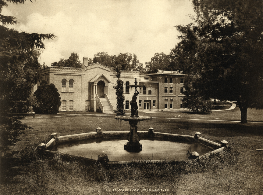 Fountain in Front of the Old Chemistry Building, date unknown