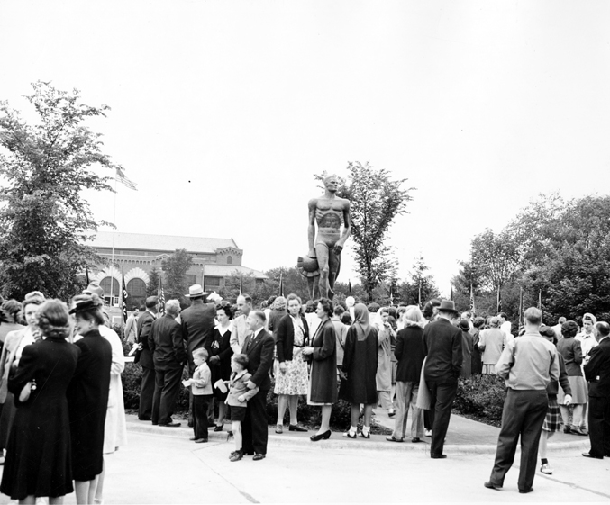 Unveiling of Sparty, June 9, 1945