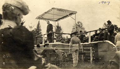 President Theodore Roosevelt Addresses Michigan Agricultural College, 1907