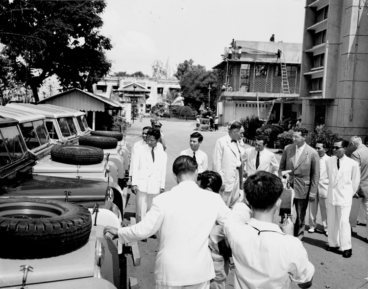 Jeeps are presented to the Civil Guard in Vietnam, 1957