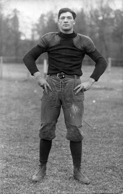 Burroughs, M.A.C. football player, circa 1900-1909