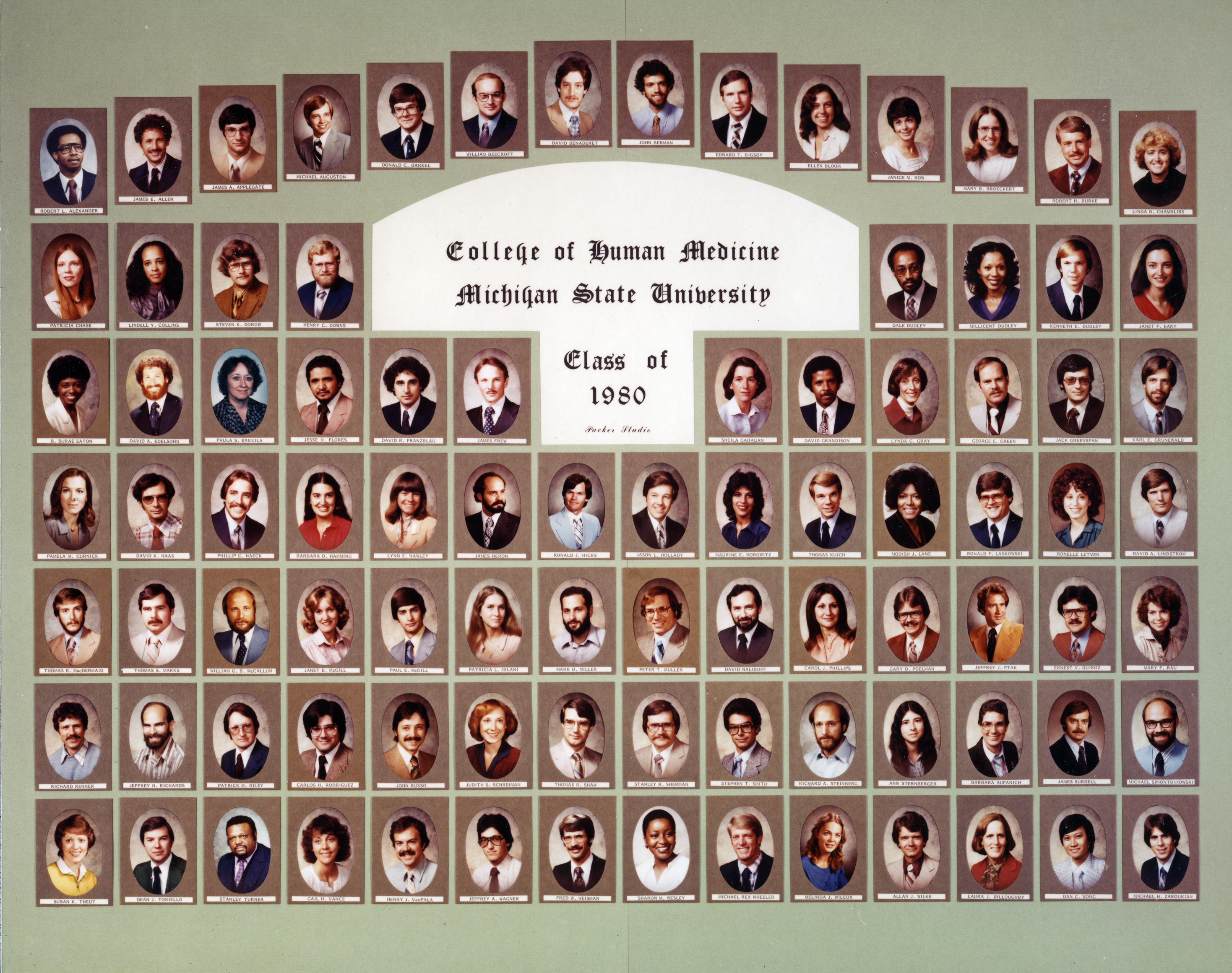 College of Human Medicine<br />Class of 1980