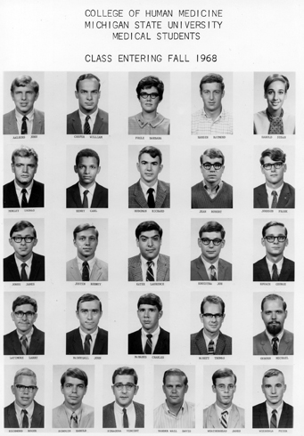 College of Human Medicine<br />Class Entering Fall 1968