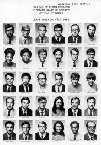 College of Human Medicine<br />Class Entering Fall 1969