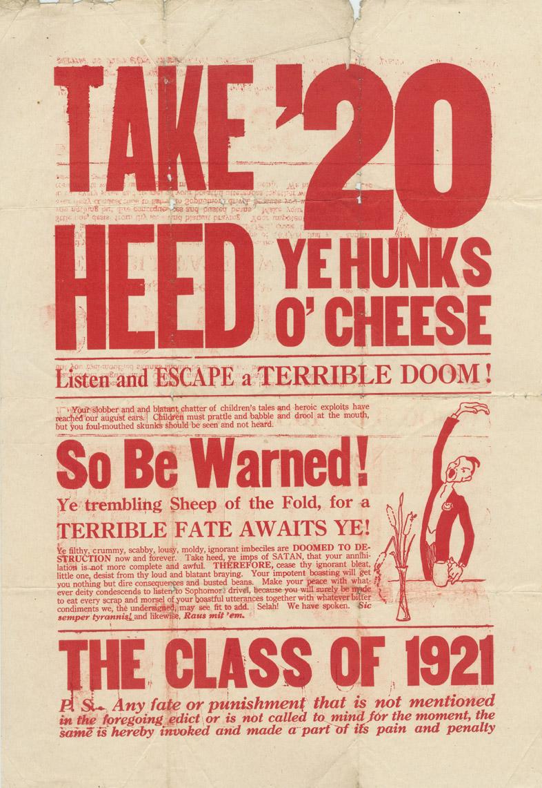 Take Heed Poster, 1917