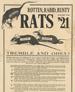 Rotten, Rabid, Runty Rats Poster, 1917