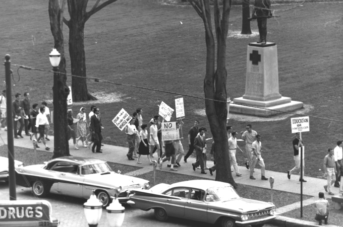 1960 March to Protest Compulsory ROTC