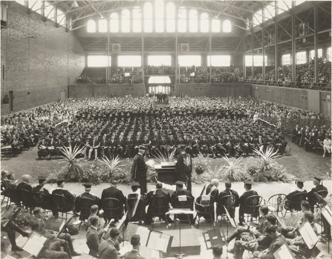 Commencement in Demonstration Hall, 1931