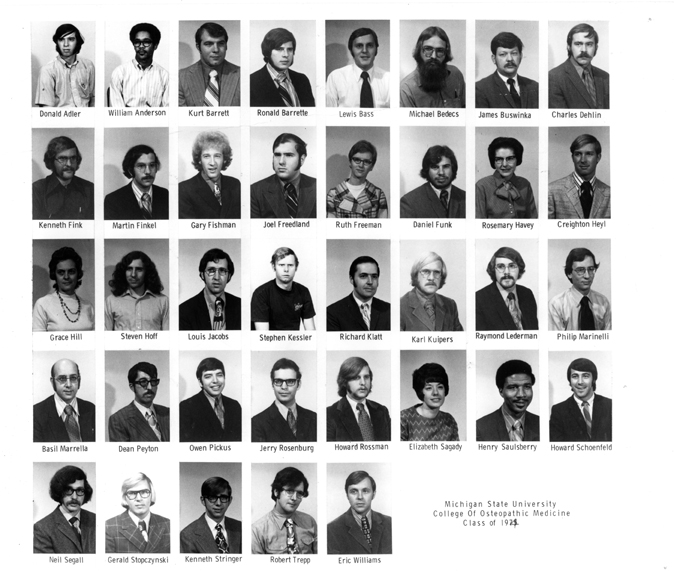 College of Osteopathic Medicine<br />Class of 1974