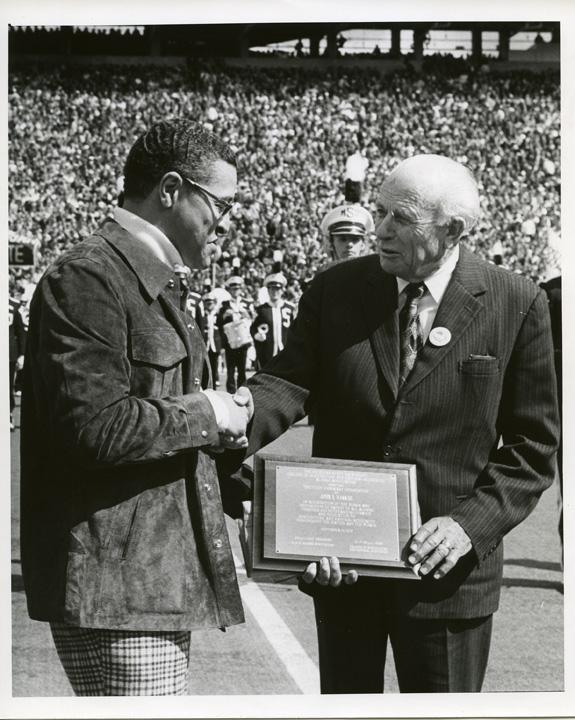 Clifton Wharton with John Hannah, 1975