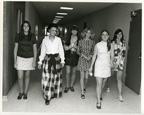 Dolores Wharton with female MSU students, 1970