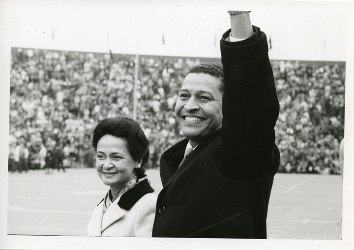 The Whartons at the 1969 Homecoming game
