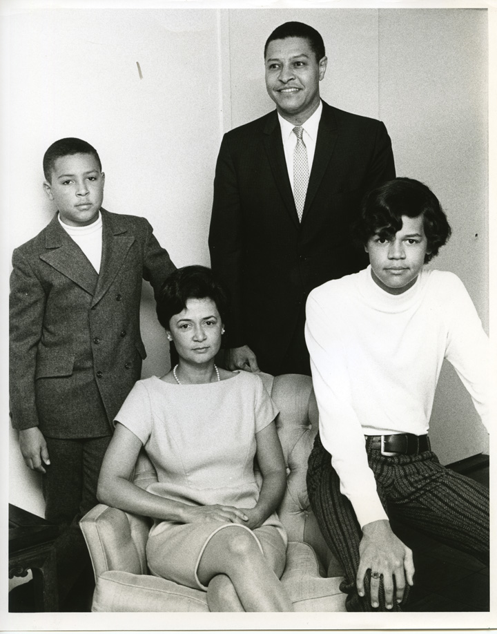 Clifton Wharton with Family, 1969