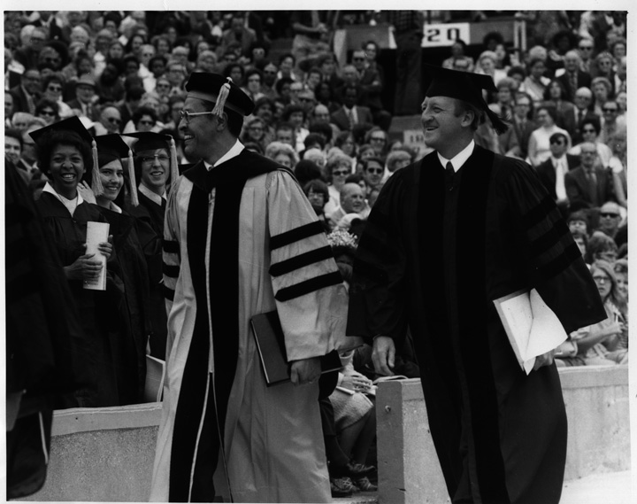 Clifton Wharton at the 1972 Commencement
