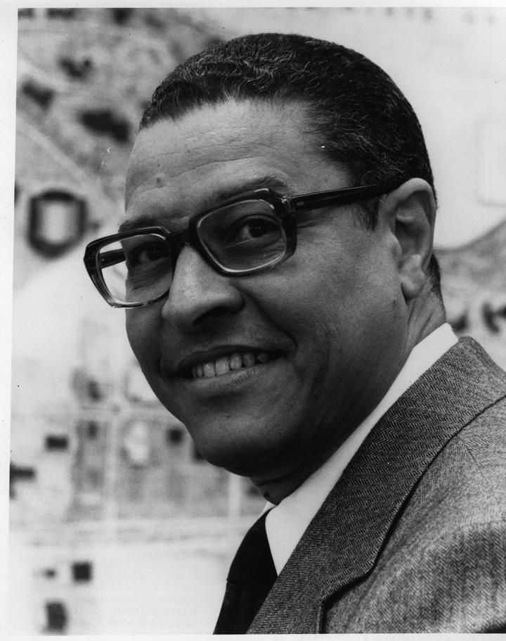 Portrait of Clifton Wharton in 1975