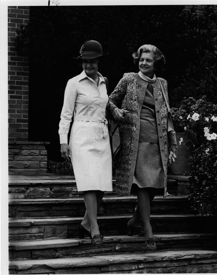 Dolores Wharton with Elizabeth Ford, 1976