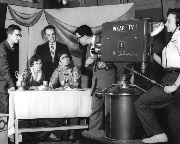 Bay City Players in WKAR TV Studio, 1954