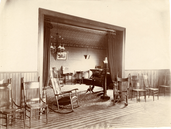 Interior of Abbot Hall, circa 1902