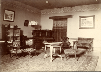 Interior of Williams Hall, circa 1900