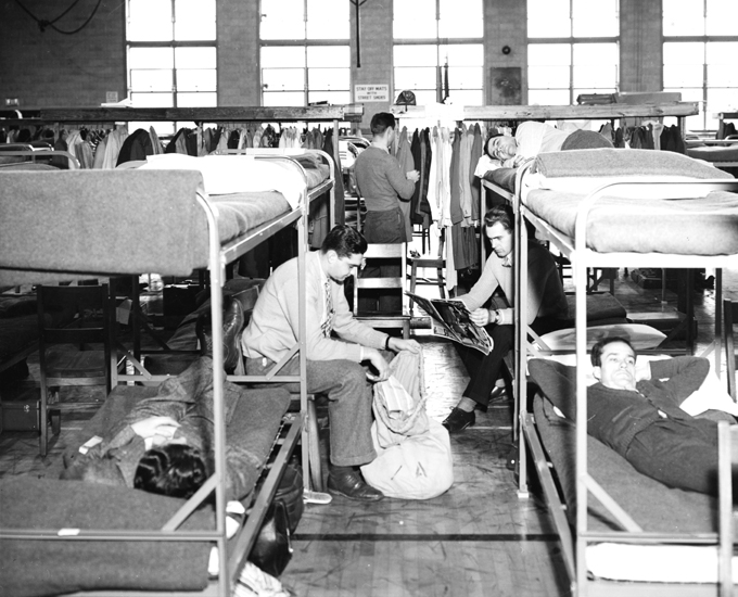 Temporary Housing on Campus, 1946