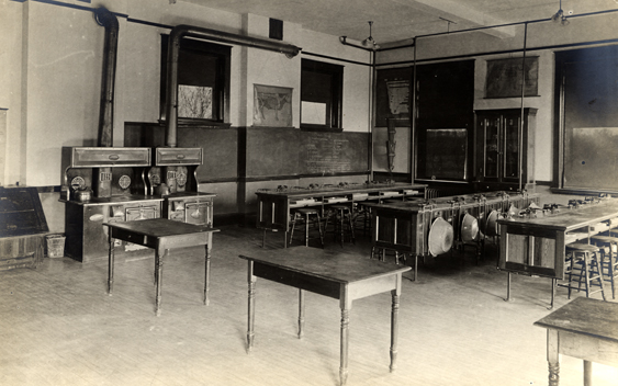 Cooking Room in Morrill Hall, circa 1908