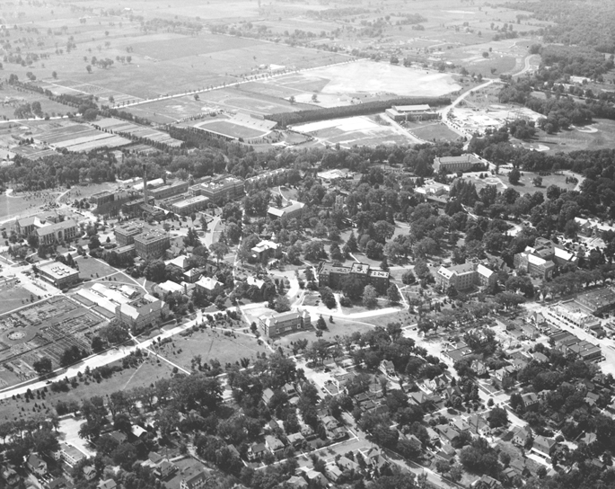 Aerial View of Campus, 1939