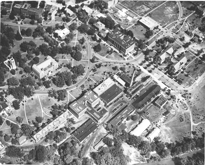 Central Campus from the Air, 1939