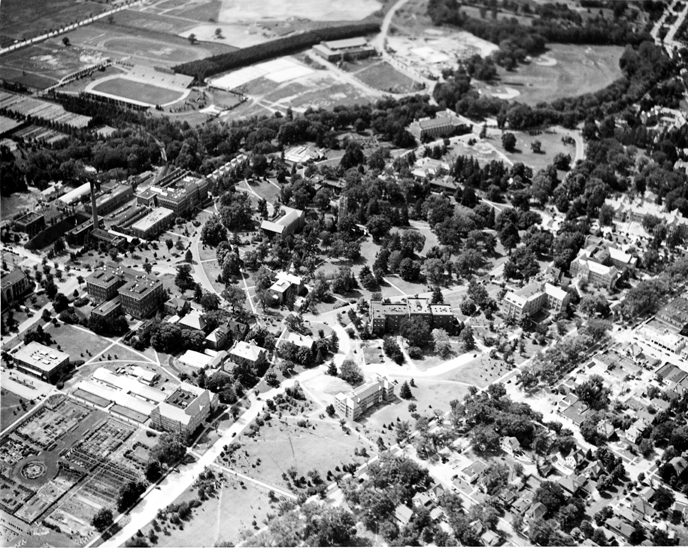 Aerial View of Campus in September, 1939