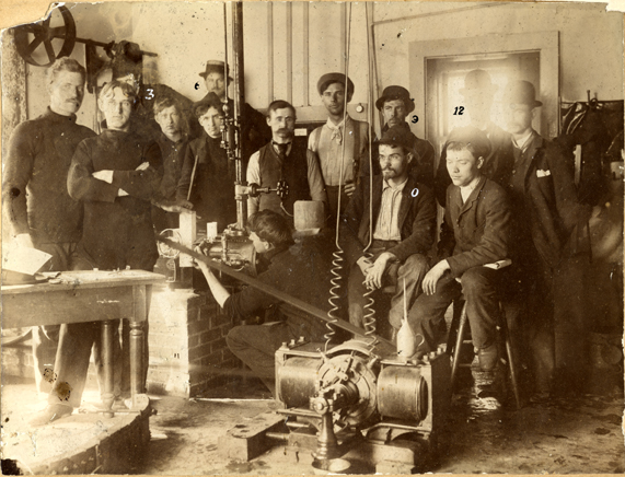 A class works with an electrical generator, 1893