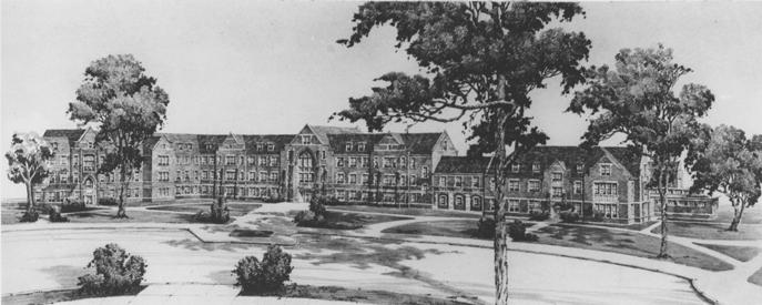 An illustration of Giltner Hall.