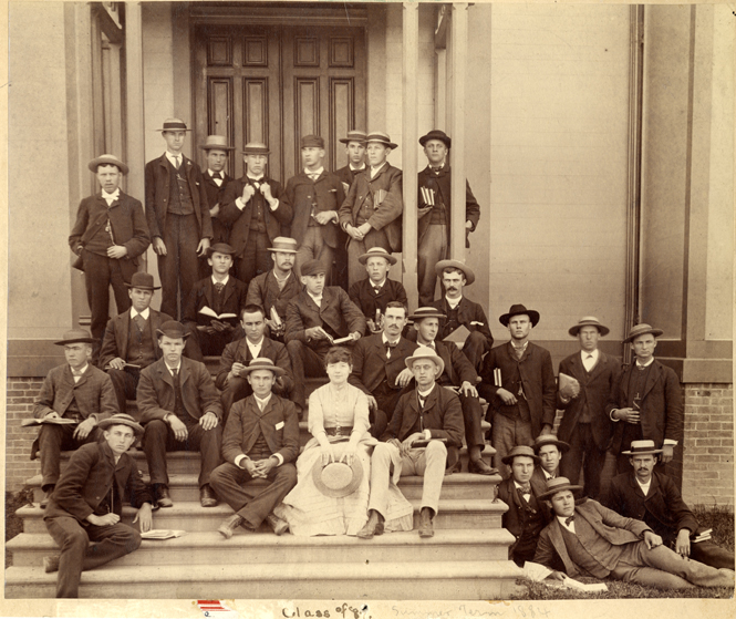 Class picture for the Class of 1887, taken in 1884