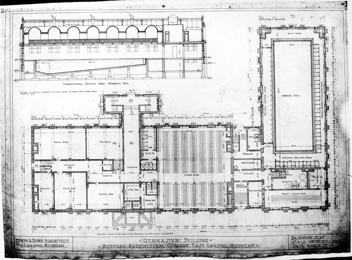 Floor plans for the IM Sports Circle building