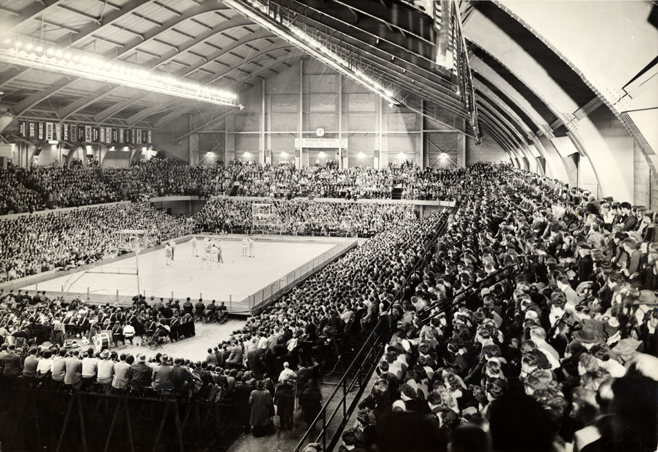 Jenison Fieldhouse during a basketball game