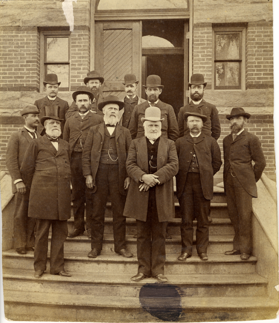 A portrait of MAC faculty, circa 1888