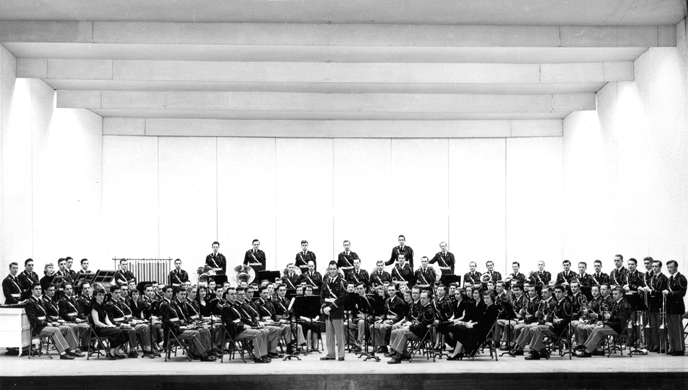 A portrait of the MSC Concert Band, 1951